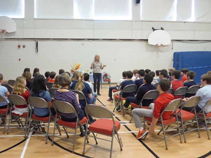Lesung an der Alexander von Humboldt Schule Montreal, in Baie d'Urfé (Québec)