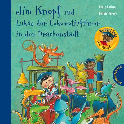 Jim Knopf und Lukas, der Lokomotivführer in der Drachenstadt.
