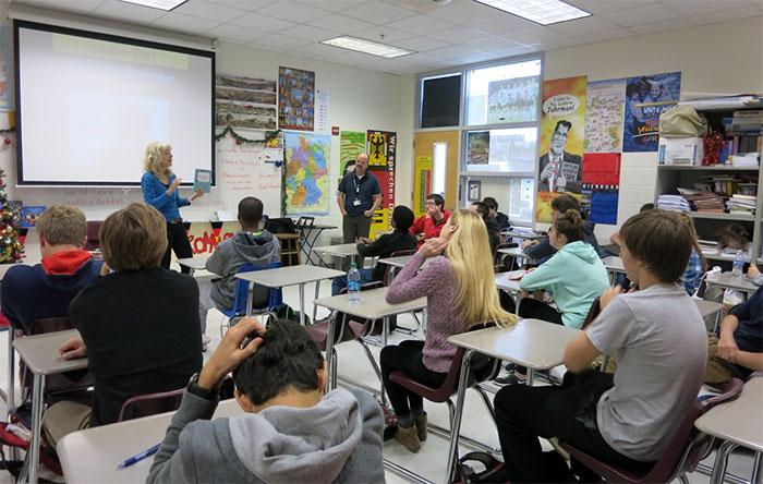 Lesung in der Whitewater Highschool in Atlanta