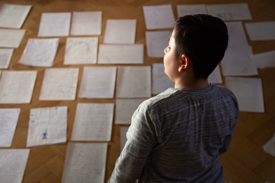 kreative Arbeit mit Kindern - Photo Didier Laget