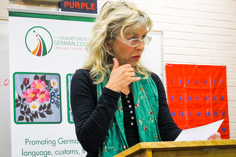 Reading for adult students at the German Language School Saskatoon - 2