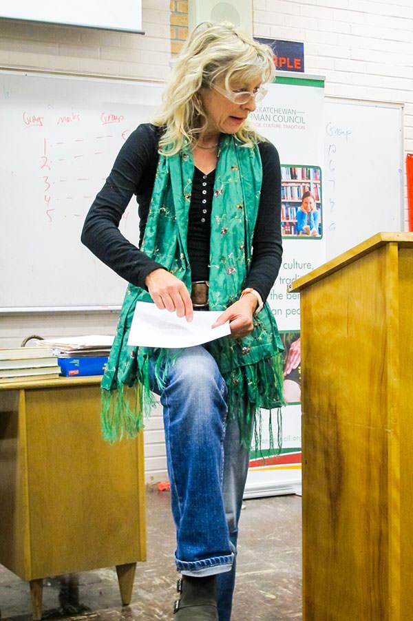 Reading for adult students at the German Language School Saskatoon